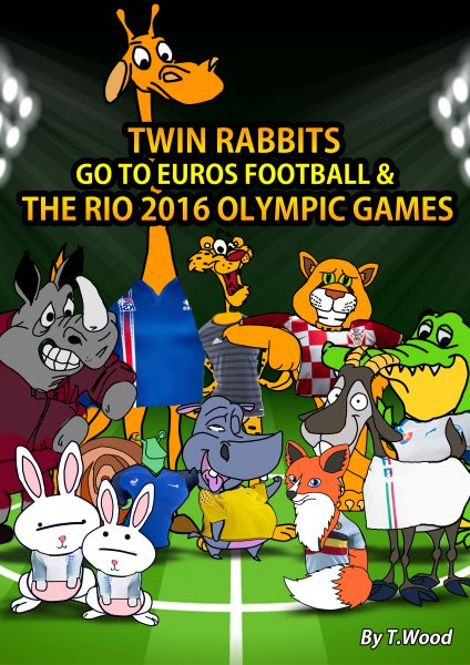 Twin Rabbits go to Euros football